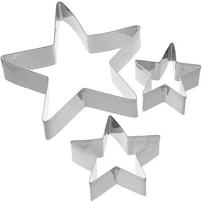KitchenCraft 餅乾壓模3件組(星星)