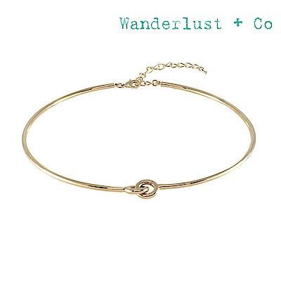 Wanderlust+Co 澳洲時尚品牌 金屬繩結頸鍊