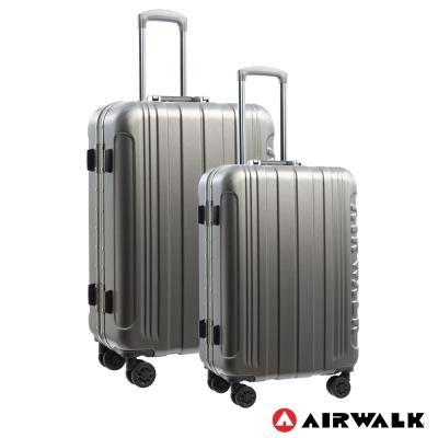 AIRWALK LUGGAGE - 金屬森林 鋁框行李箱 24+28吋兩件組-碳鑽灰