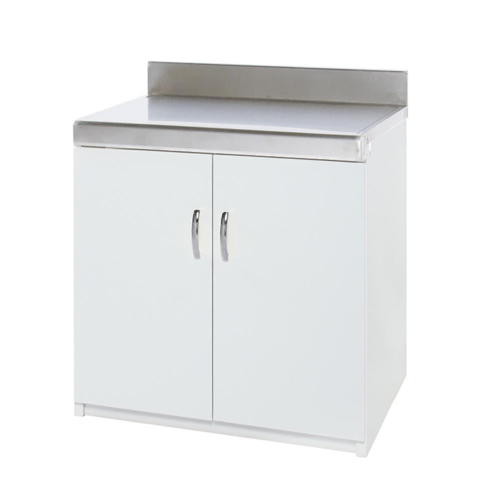 Bernice-防潮防蛀塑鋼平檯/櫥櫃 (純白)