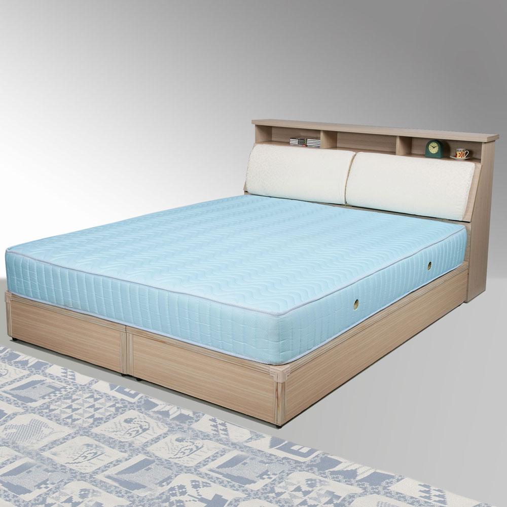 Homelike 黛絲6尺床組+獨立筒床墊-雙人加大(二色任選)