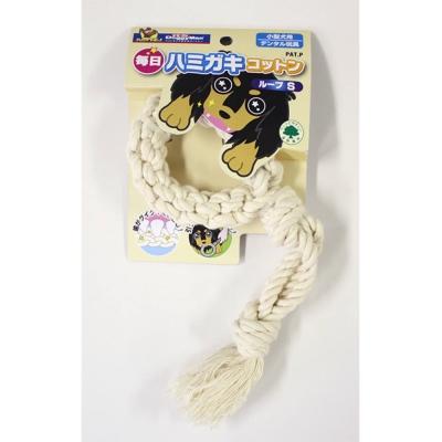 Doggyman 犬用每日潔牙棉繩玩具環型S