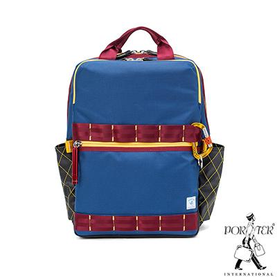 PORTER - 活力無限GEAR UP高機能時尚後背包 - 藍配紅