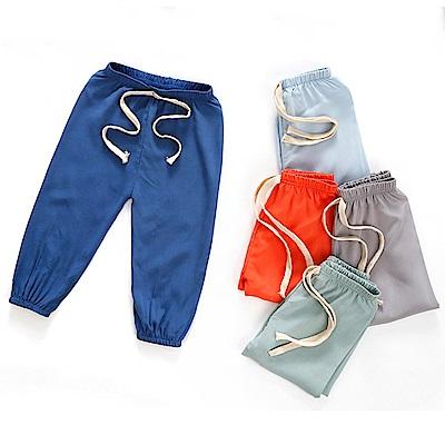 兒童長褲 薄款棉綢燈籠褲 縮口褲睡褲-隨機3件入