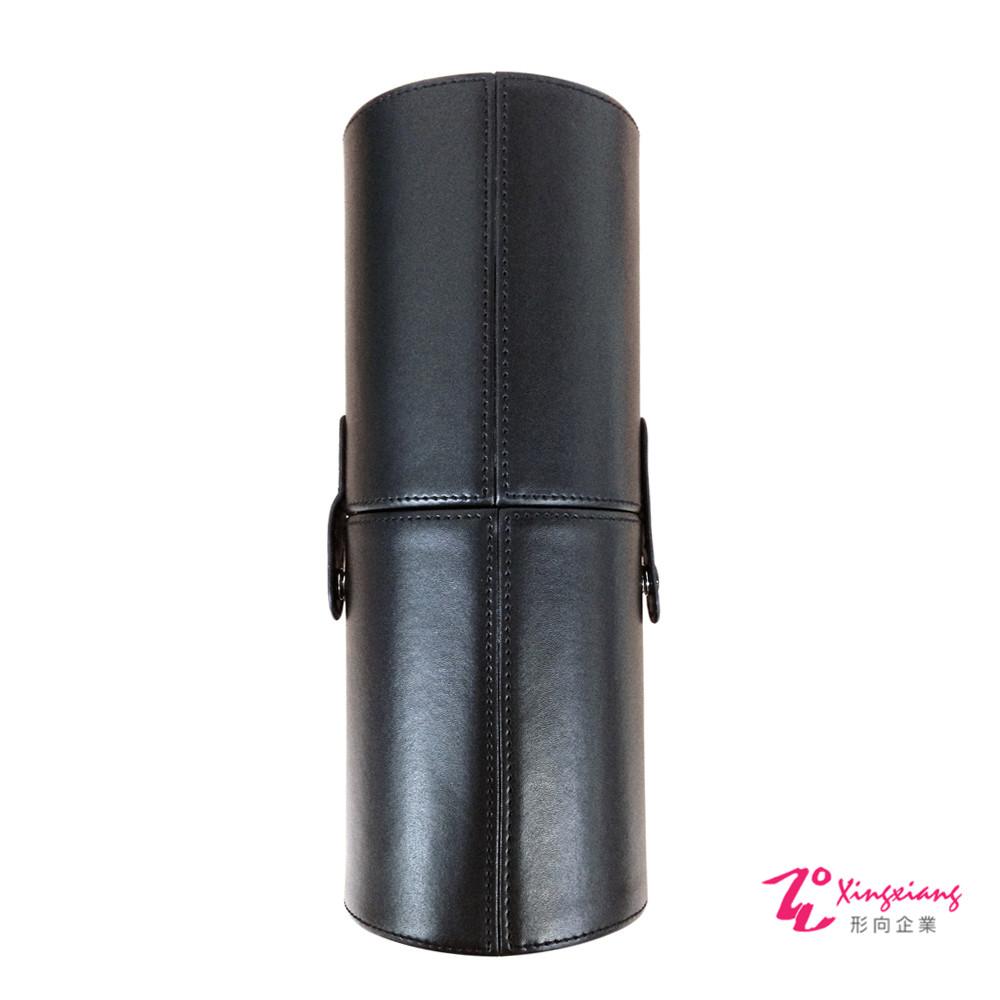 Xingxiang形向 魅力黑皮革圓筒筆套(中) Q-75-6B