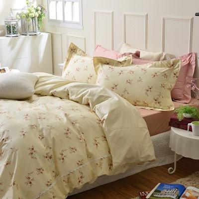美夢元素-Cassy-精梳棉-被套床包組-英格麗