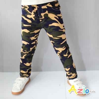 Azio Kids 童裝-長褲 迷彩風前後雙口袋長褲(綠)