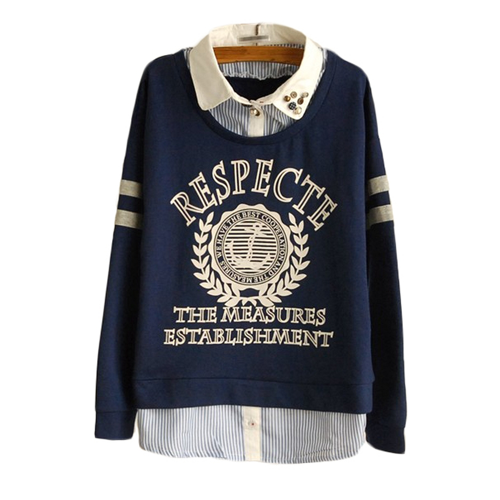 假兩件法國徽記棉質衫(共二色)LOVE20東京館