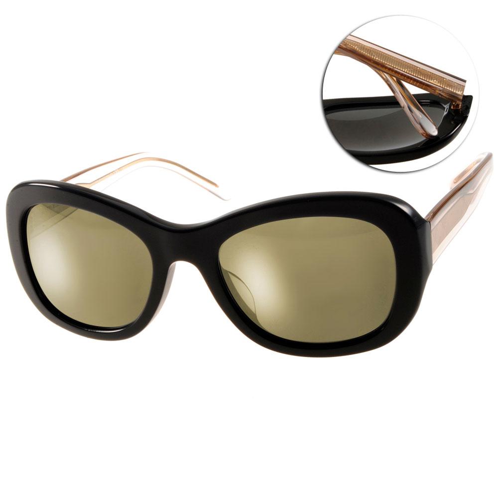 BURBERRY太陽眼鏡 時尚英倫/黑-水銀鏡面#BU4189F 35074T