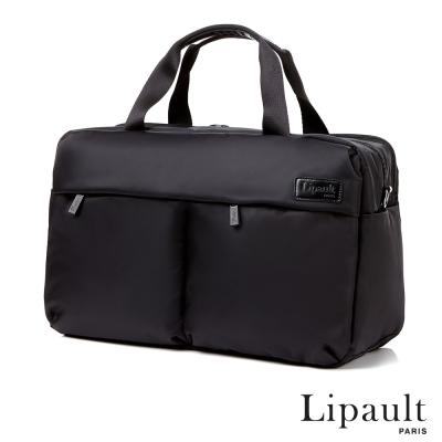 法國時尚Lipault 24H萬用筆電旅行袋(耀岩黑)