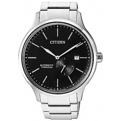 CITIZEN 星辰 紳士品格 鈦金屬小秒圈機械錶(NJ0090-81E)-42mm
