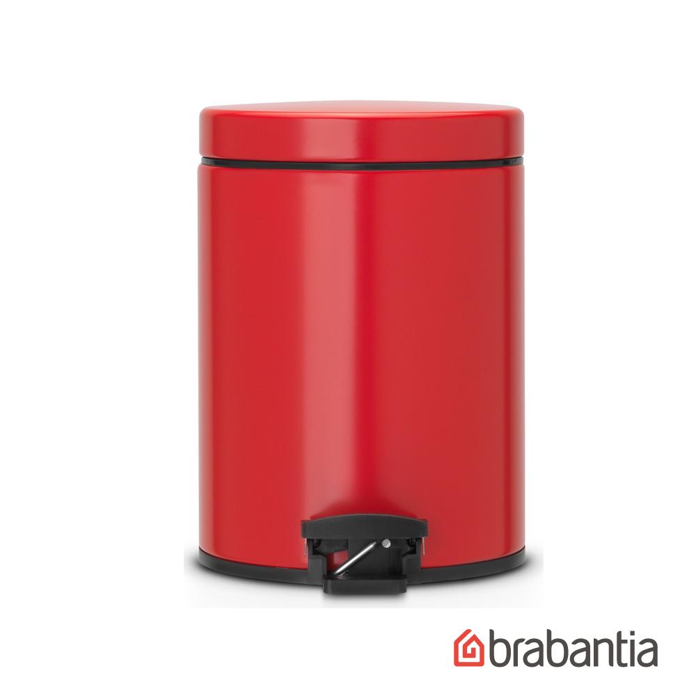 【Brabantia】熱情紅腳踏式垃圾桶5L