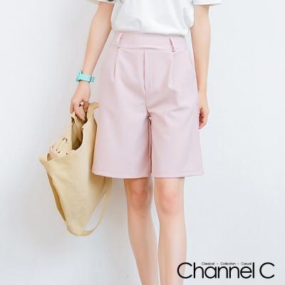 韓版條紋顯瘦五分寬褲-三色-Channel-C