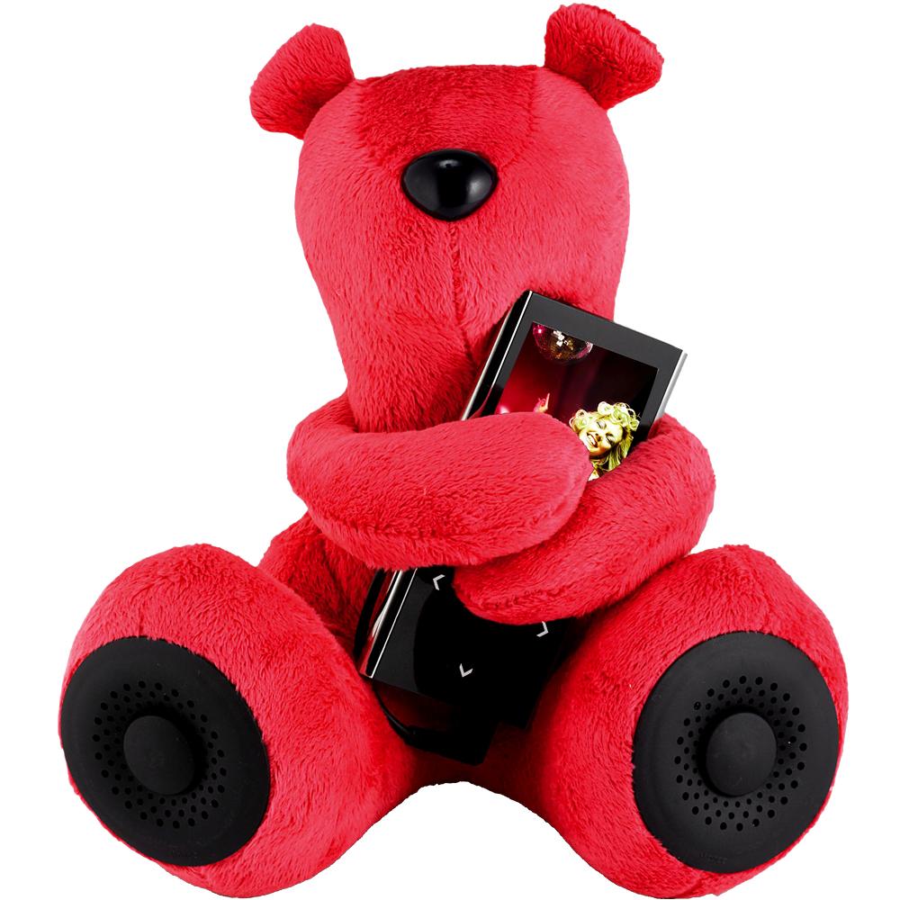 《Addex》Huggy 小熊抱抱揚聲器(紅)