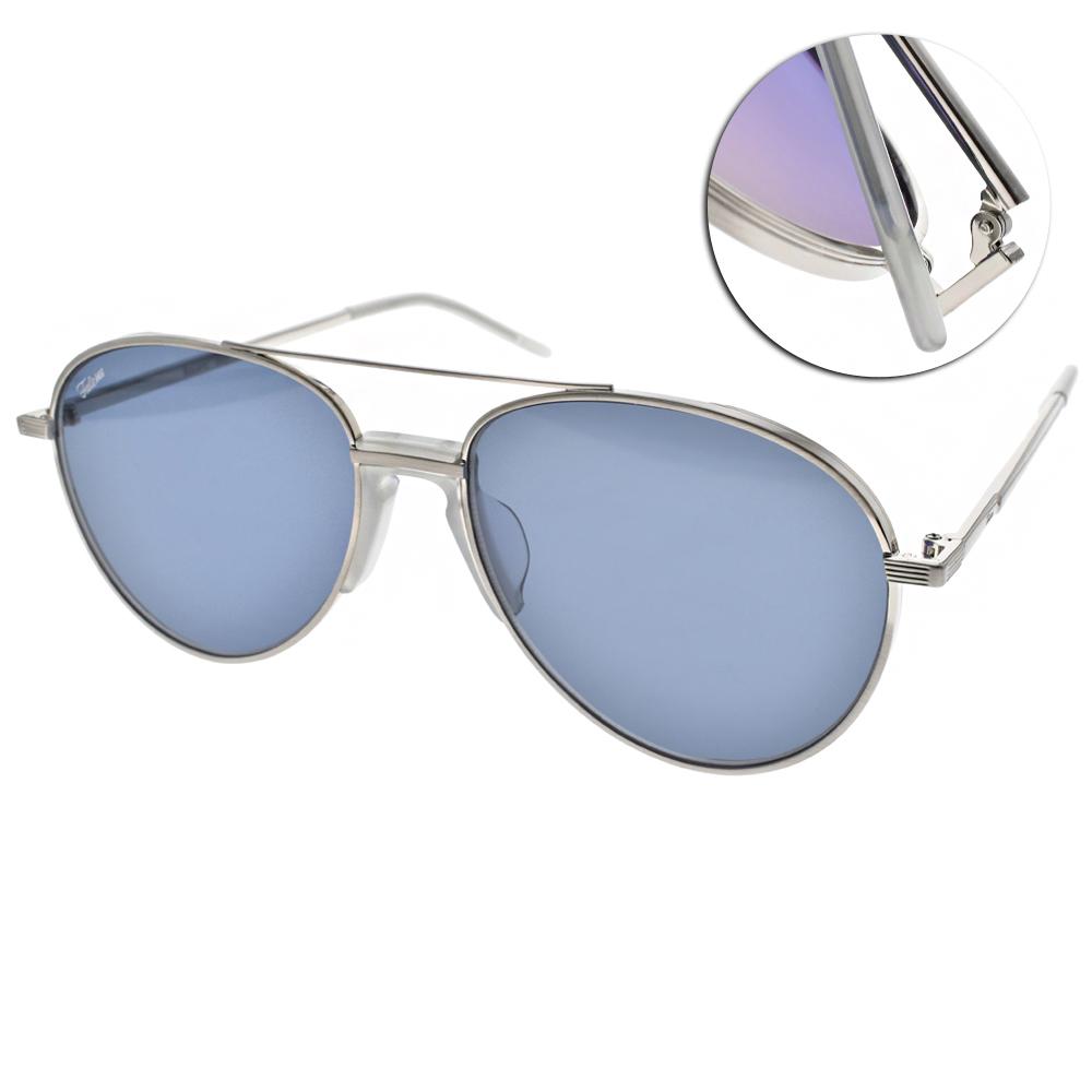 FAKE ME太陽眼鏡 經典飛官款/銀-藍鏡片#BAUERS NVY