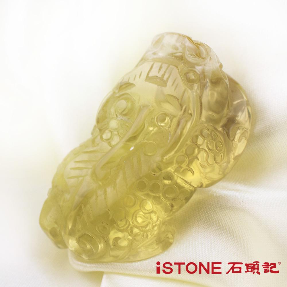石頭記 黃水晶貔貅項鍊-極富納財32.4G