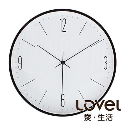 Lovel 30cm紳士步伐靜音機芯壁掛時鐘(T721-BK413)