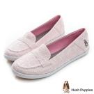 Hush Puppies 浪漫蕾絲咖啡紗摩卡娃娃鞋-櫻花粉