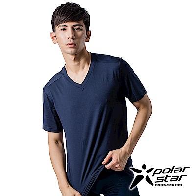 PolarStar 男 COOLMAX 排汗內衣 短袖T恤『深藍』P9103