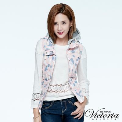 Victoria 蕾絲拼接寬鬆長袖T-女-白色