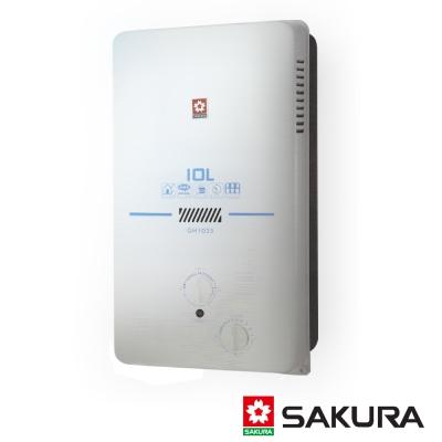 櫻花牌10L屋外型ABS防空燒熱水器GH-1035