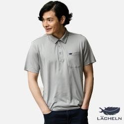【LACHELN】Coolmax吸排抗UV彈力POLO衫-灰(L72M907)