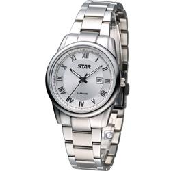 STAR 時代 時尚摩登仕女腕錶-銀/32mm