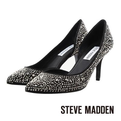 STEVE-MADDEN-側開口亮鑽高跟鞋