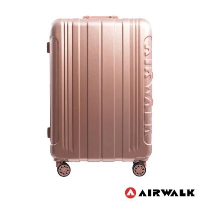 AIRWALK LUGGAGE - 金屬森林 鋁框行李箱 24吋ABS+PC鋁框箱-玫銅金
