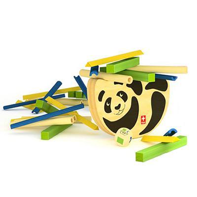 德國Hape愛傑卡-遊戲競賽系列-熊貓平衡遊戲