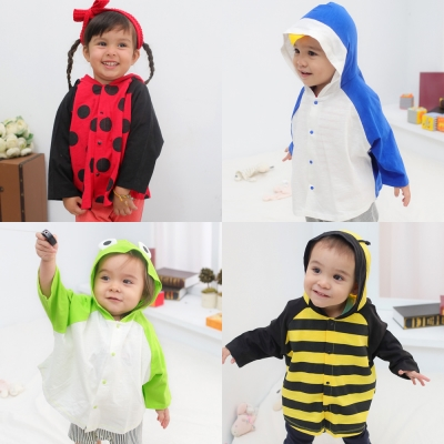 baby童衣 嬰兒披風 薄外套 動物小外套 60105