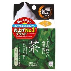 日本牛乳石鹼-自然派綠茶洗顏皂80g /個(總代理)