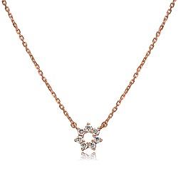 璀璨玫瑰金鑽石項鍊