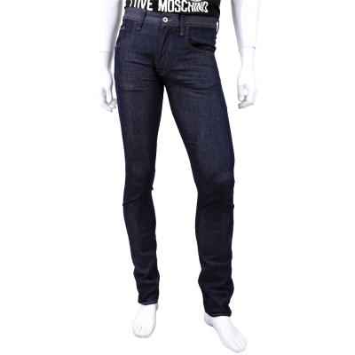 MOSCHINO 深藍色直筒牛仔長褲(男)