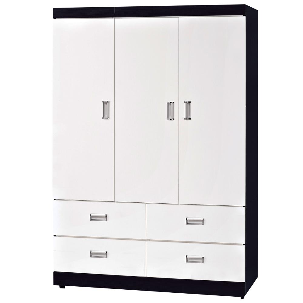時尚屋 黑白配4x6尺衣櫃