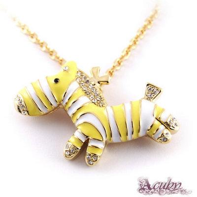 ACUBY-純真斑馬造型-黃白耀眼金