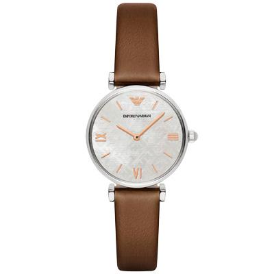 EMPORIO ARMANI 呢喃左岸時尚腕錶-AR1988/31mm