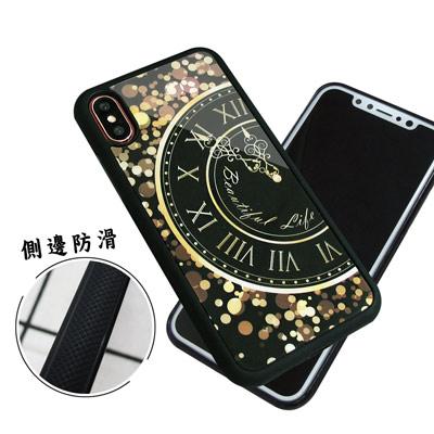 石墨黑系列 iPhone X 高質感側邊防滑手機殼(時光)