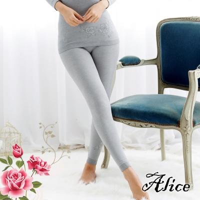艾莉絲輕機能系-玫瑰物語暖棉貼身衛生褲-灰