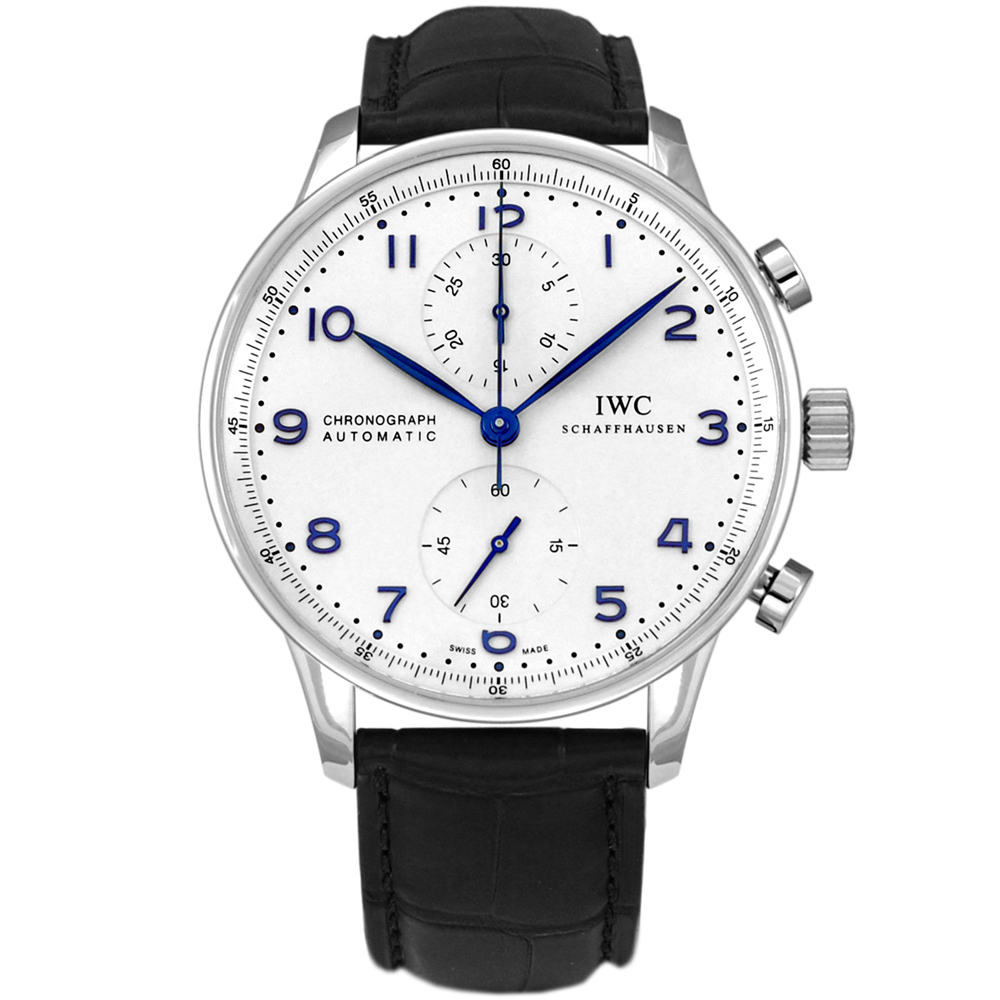 IWC 萬國錶 Portuguese IW371446大葡萄牙系列白面計時腕錶-40.9mm