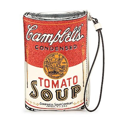 COACH 美式時尚罐頭蕃茄湯L型拉鍊手拿包-白色
