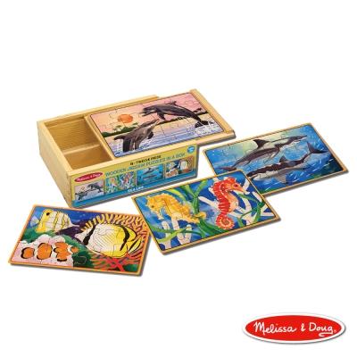 美國瑪莉莎 Melissa & Doug 盒中木製拼圖 - 海洋世界