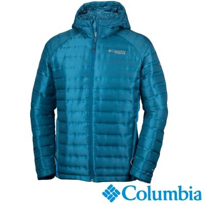 Columbia哥倫比亞 男款-鈦700羽絨連帽外套-藍色 UWE09150BL
