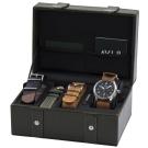 AVI-8 FLYBOY 飛行男孩時尚禮盒組/贈三條錶帶-黑x咖啡/43mm