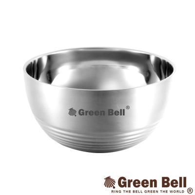 GREEN BELL綠貝 永恆316不鏽鋼雙層隔熱碗13.5cm(六入)