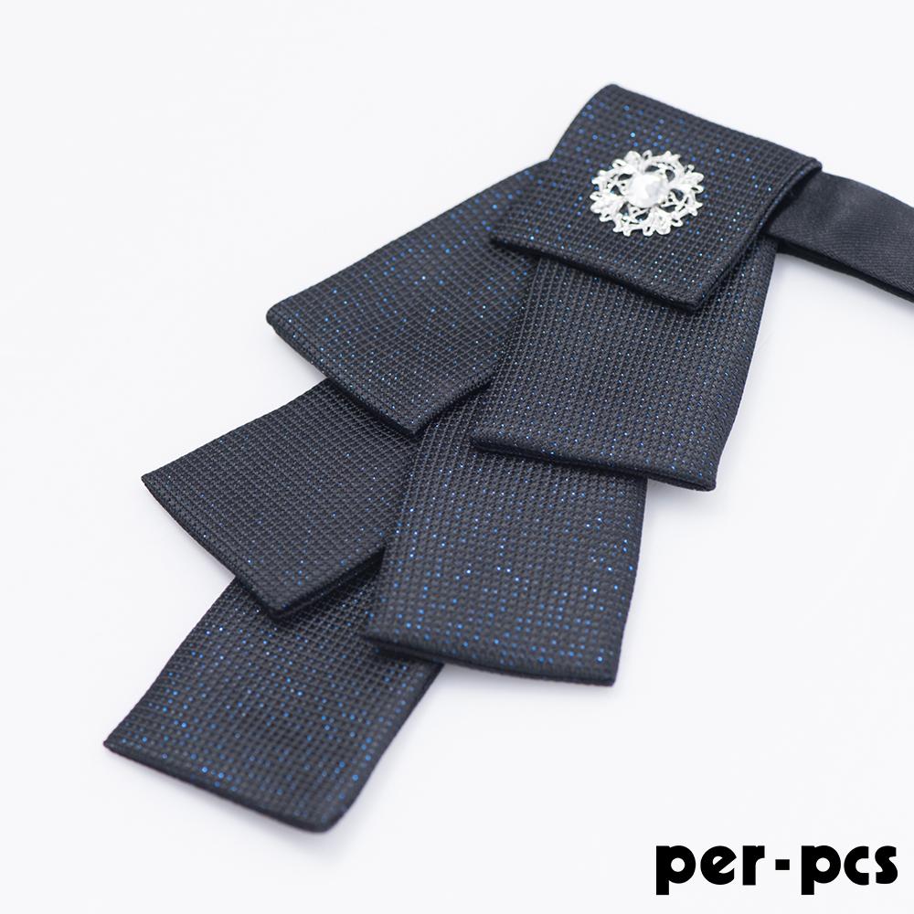 per-pcs 聖誕樹鑽可調脖圍領結_黑藍(119-36)