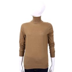 Max Mara-SPORTMAX 咖棕色高領羊毛上衣(100%LANA)