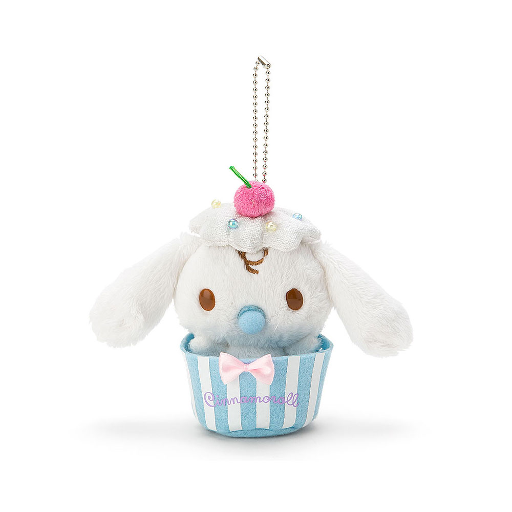 Sanrio 大耳狗喜拿漫步巴黎系列杯子蛋糕裝扮玩偶吊鍊(牛奶)
