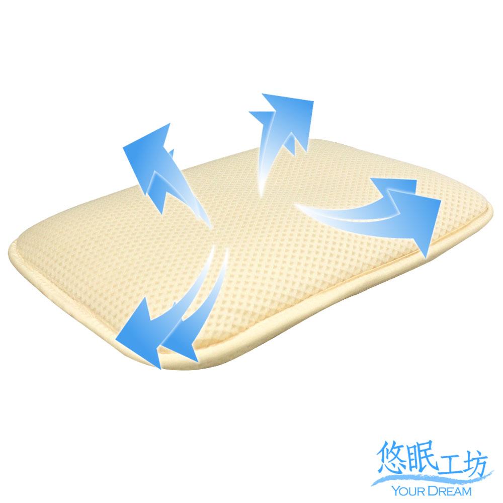 悠眠工坊 3D蜂巢立體 透氣嬰幼童枕 40x25厚6cm 3D-BABY01