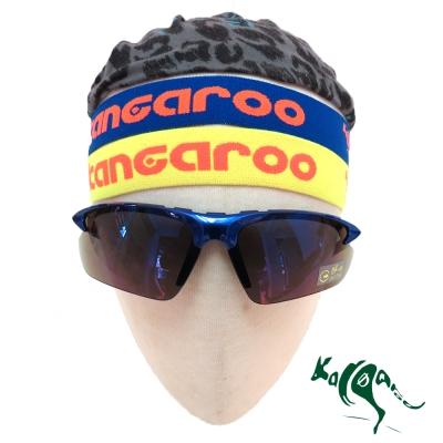 【KANGAROO】活力藍黃雙色組 2.5cm加寬版 止汗帶 (藍黃色) K140422